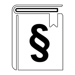 weißes Buch mit Paragrafenzeichen