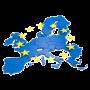 Kontinent Europa mit Europasternen
