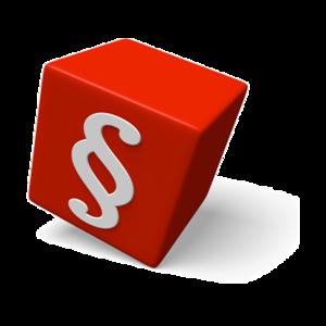 roter Würfel mit Pargrafenzeichen